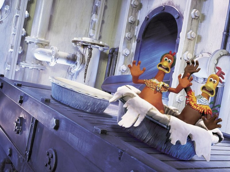 chicken run movie. sequence in Chicken Run.