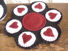 Heart Candle Mat