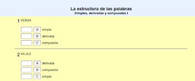 Simples, derivadas y compuestas