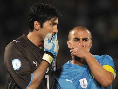 Cannavaro in crisi: preannuncia il declino dell'Italia ai mondiali 2010?