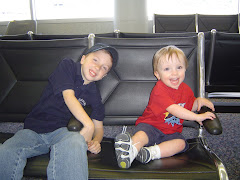Two Boys at the Airport