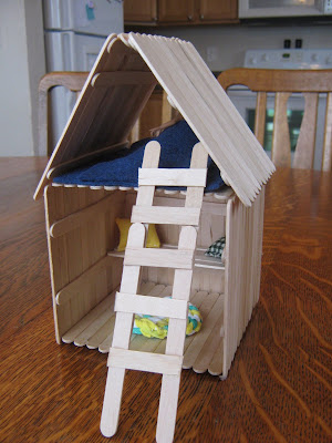 how to build a house using popsicle sticks