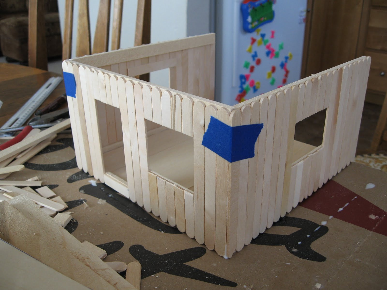 House popsicle sticks plans - House interior