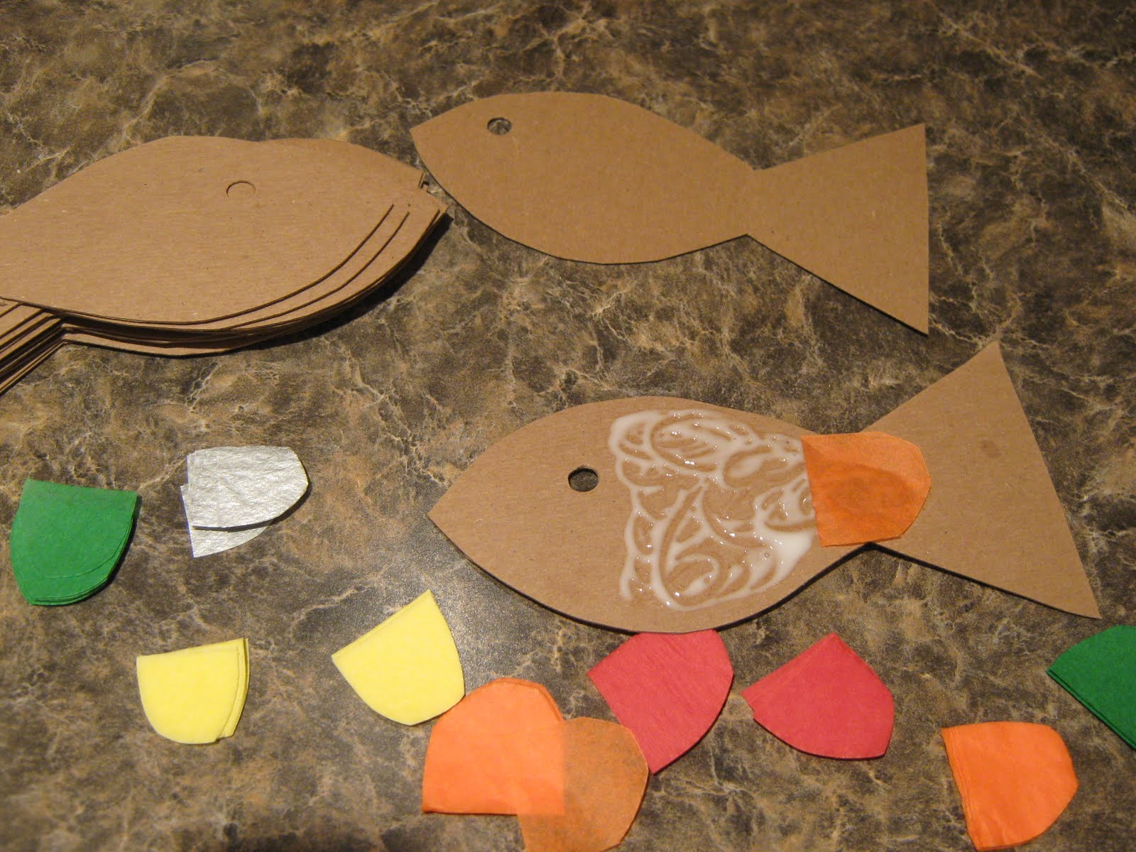 almost unschoolers rainbow fish craft and birthday party game