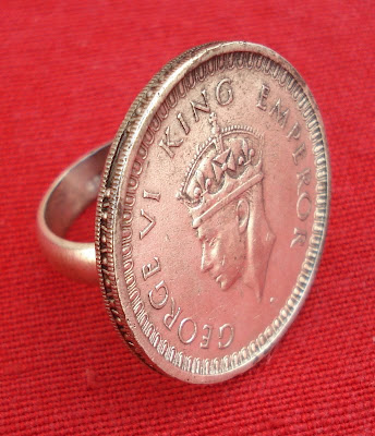 King George Coin Ring