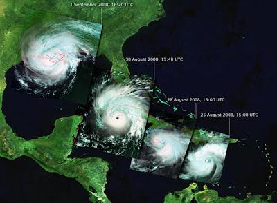 Ciclones tropicales: Huracanes Gustavfases