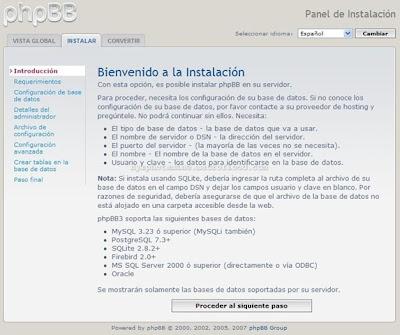 Crear un foro PHPBB3 Gratis 0410