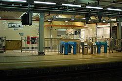 Vista de la estación Loria de la línea A
