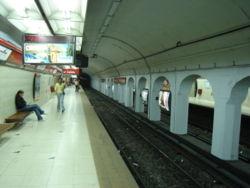 Vista de la estación Carlos Gardel de la línea {{{linea}}}