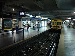 Vista de la estación Retiro de la línea C
