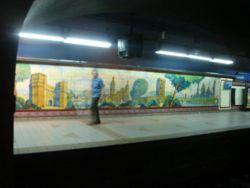 Vista de la estación Lavalle de la línea C
