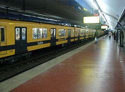Vista de la estación Diagonal Norte de la línea C