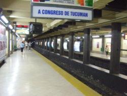 Vista de la estación Callao de la línea D