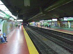 Vista de la estación Scalabrini Ortiz de la línea D