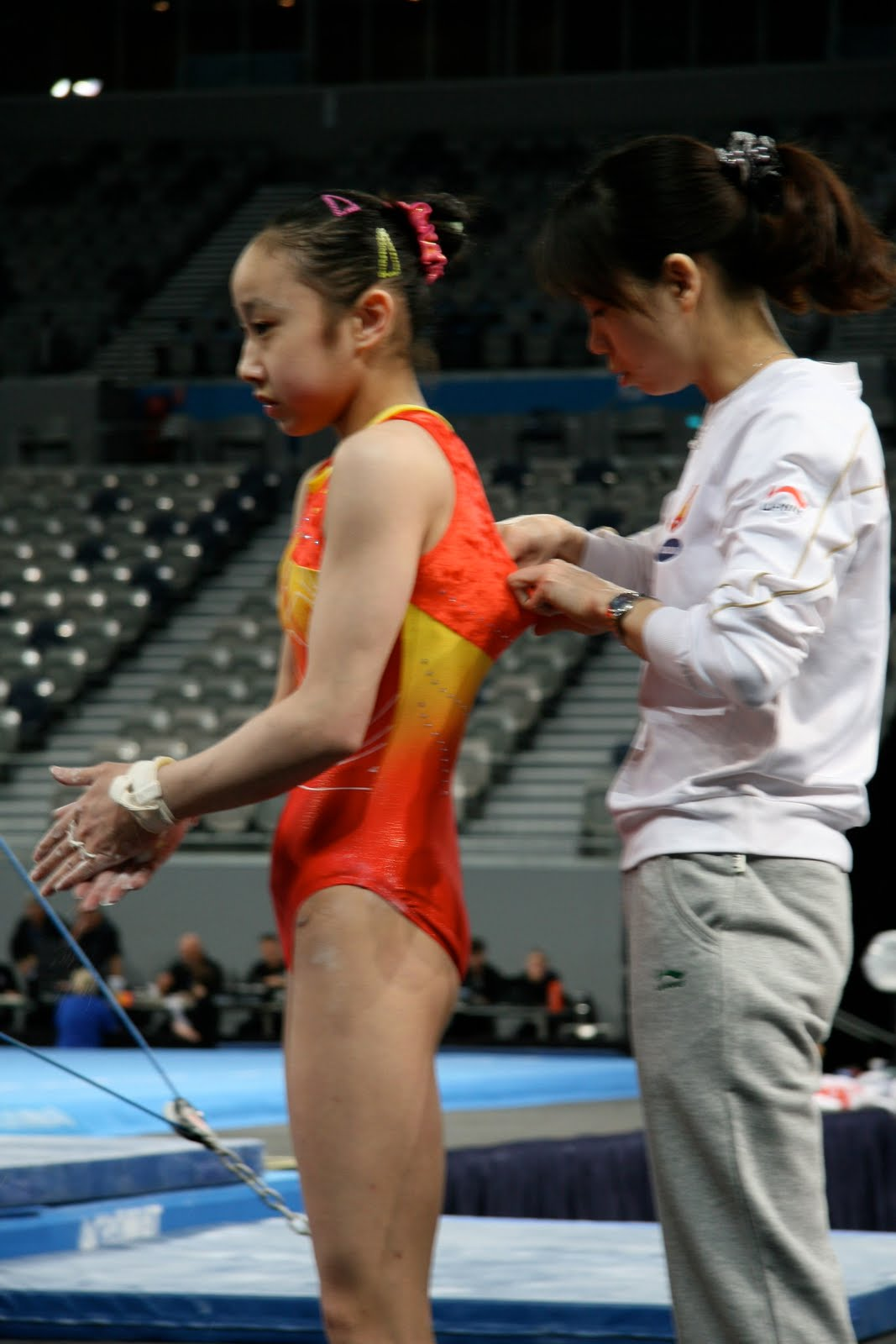 Olympic Female Gymnast Wardrobe Malfunctions http://www.couch-gymnast.blogspot.com/2010/05/album-nonsense-candids-and-faves.html