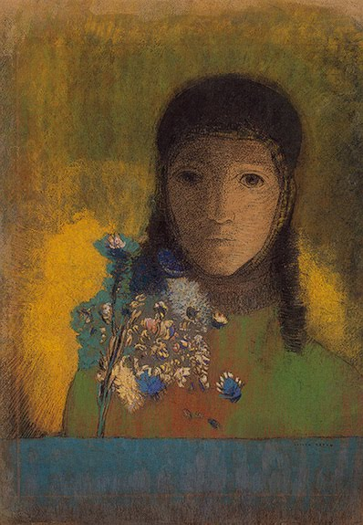 Woman with Wildflowers