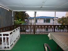 Jamie's houseboat deck
