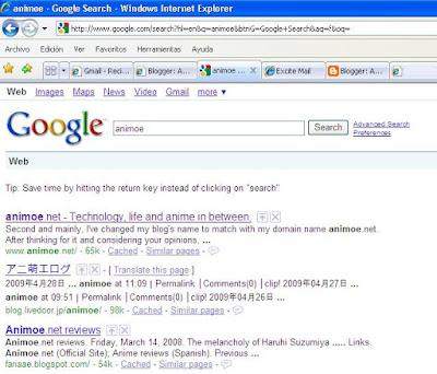 animoe is #1 in google