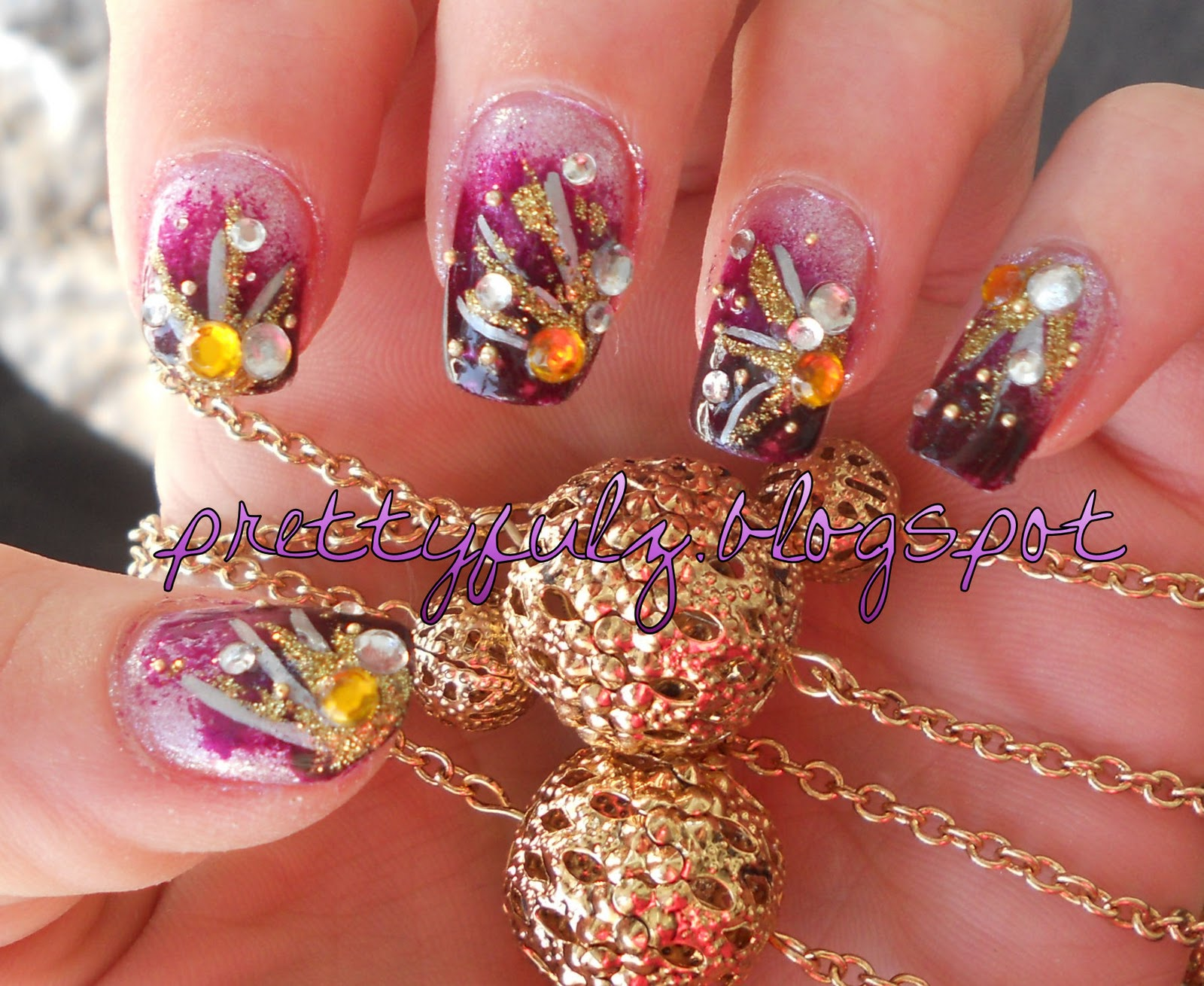 Prettyfulz: CUTE NAIL ART DESIGN | Purple Deco Nail Art
