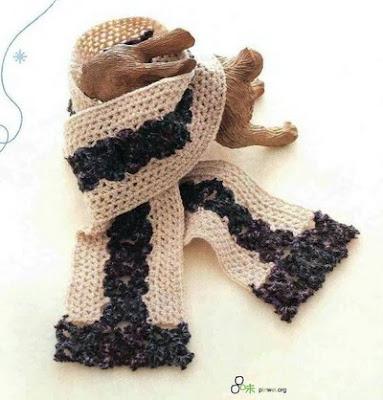Bufanda a crochet con flores