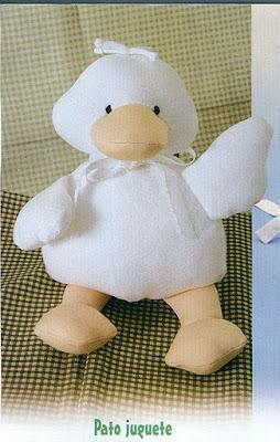 Muñeco pato con moldes