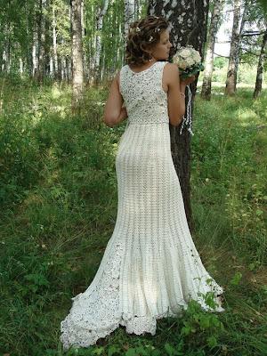 Bolsita para novia tejida a crochet