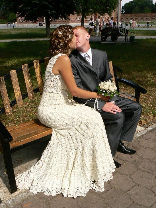 vestidos de novia a crochet ~ solountip
