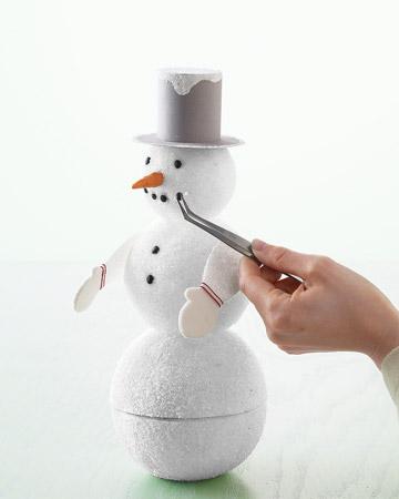 Como hacer un mu eco de nieve paso a paso - Como hacer bolas de nieve ...