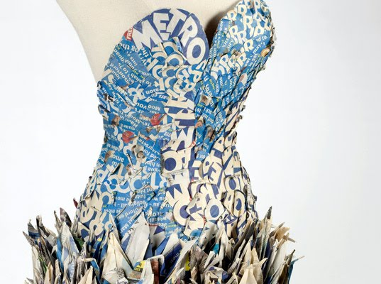Recycled Paper Crane Dress