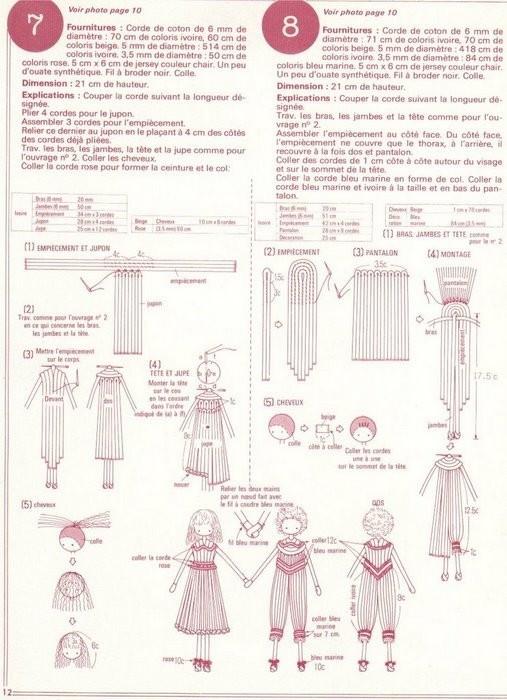 Manualidades fáciles -muñecas de cordón
