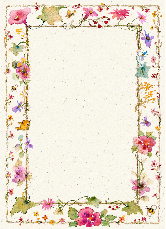 Plantillas para cartas con motivos florales