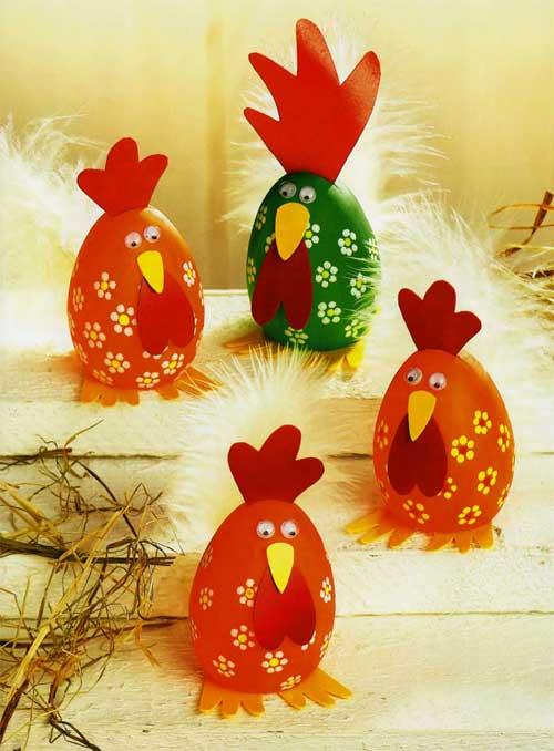 Manualidades infantiles con cascara de huevo