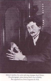 Karl Walser, artist and stage designer, Robert Walser's older brother, photograph from 1912 in Berlin