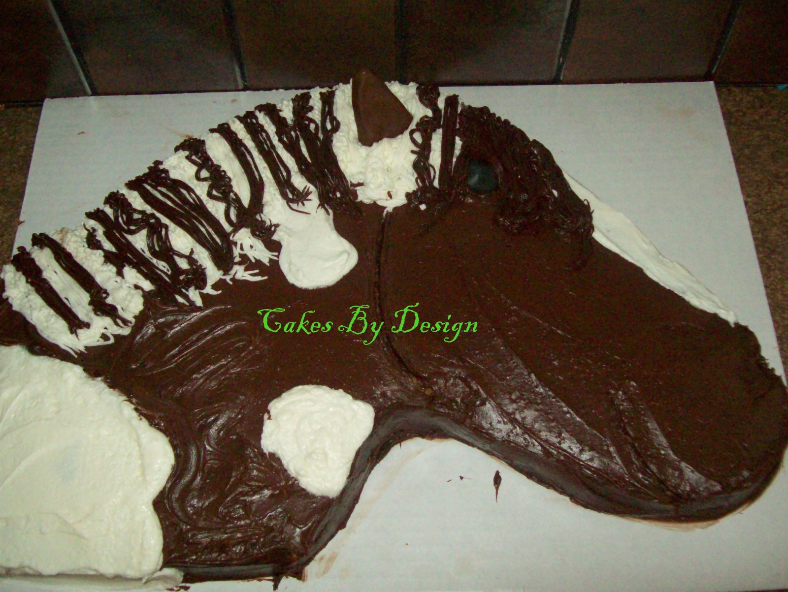Cakes By Design Horse Head Cake