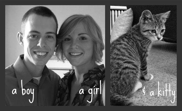 a boy, a girl, & a kitty