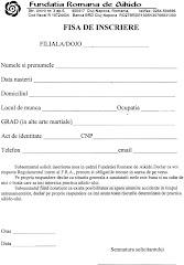 Cerere înscriere în Fundația Română de Aikido Aikikai