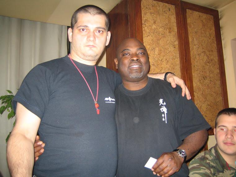 Cluj, 2006 - cu maestrul Michel Gollo, 6 dan