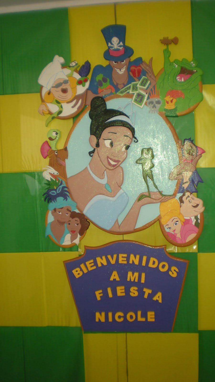 Fiestas Infantiles, Decoracion La Princesa y el Sapo