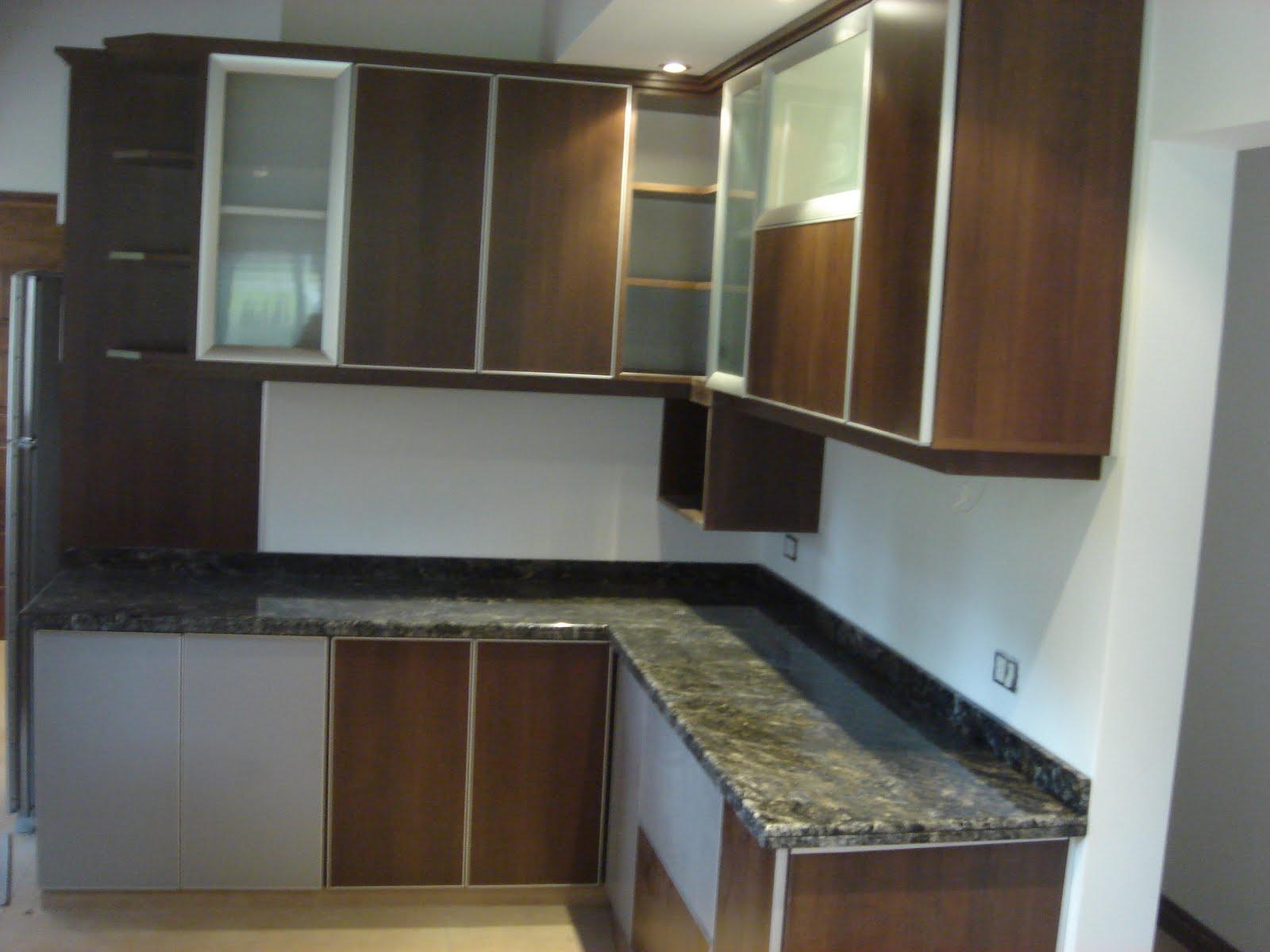 Muebles cocina en melamina vidrio y aluminio - Muebles en aluminio ...