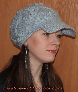 Вязание спицами женских шапок из мохера спицами