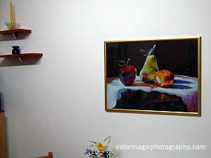 Still life on the kitchen wall