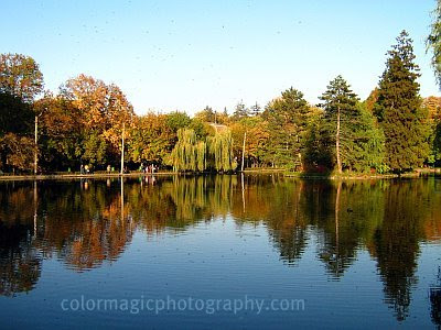 Autumn landscape -reflections on the lake