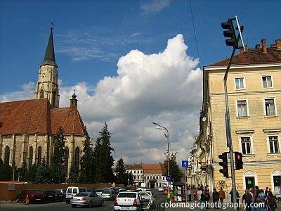 Cumulus cloud- cityscape Cluj Napoca
