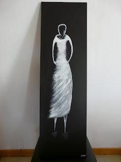 tableaux peinture acrylique dame blanche femme blanche femme blanche 2 femme fant me tous vendus. Black Bedroom Furniture Sets. Home Design Ideas