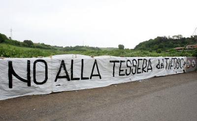 Protesta a Roma contro la tessera del tifoso