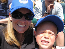 Mom and Cole at the Game