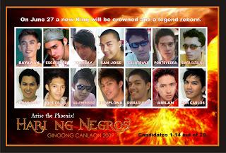 2009 Hari Ng Negros Candidates 1-28