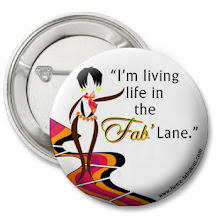 """I'm living life in the Fab' Lane"" Button (White)"