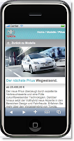 Toyota German mobile site