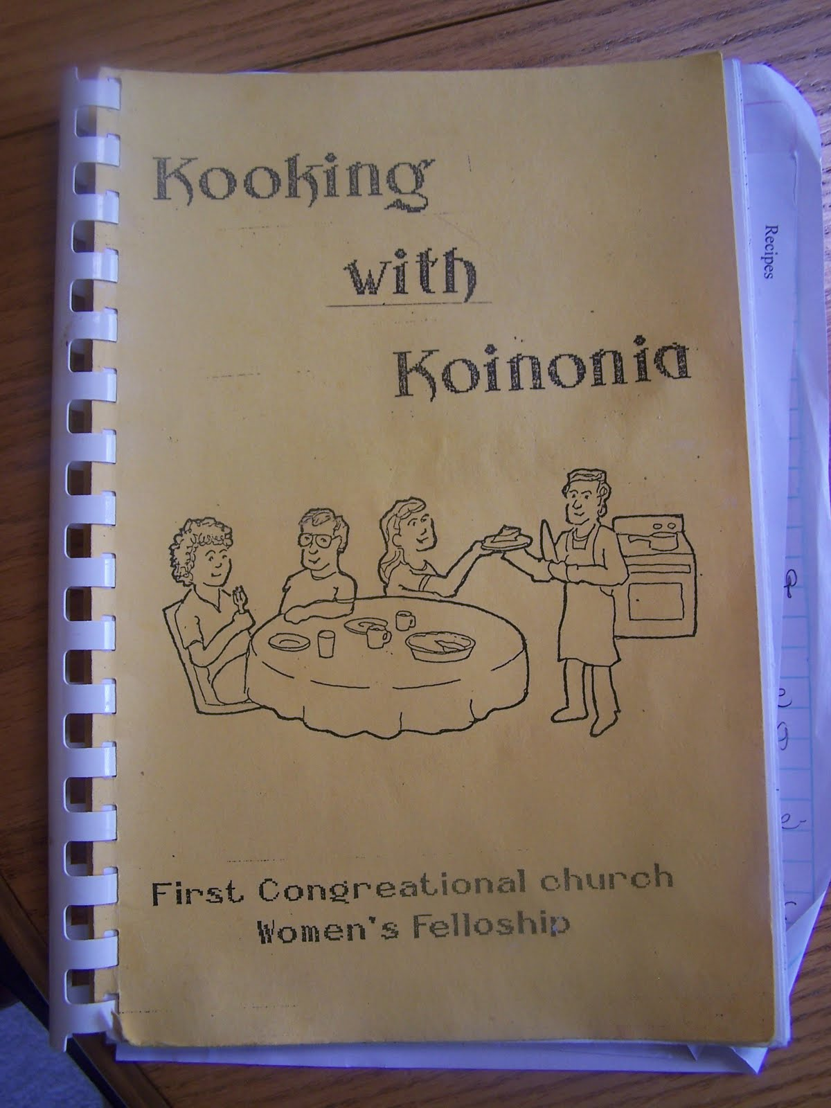 how to make a church cookbook
